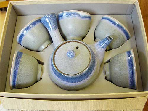 パープル茶器セット